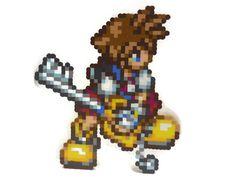 Kingdom Hearts: Chain of Memories Sora Pixel Art by PixelMeltdown