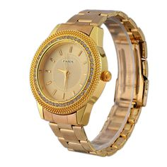 $4.94 (Buy here: http://appdeal.ru/8g7n ) 2015 Luxury Brand Gold Watches Men Military Diamond Crystal Watches Gold Steel Analog Quartz Wrist Watch Casual Business Hour for just $4.94