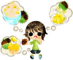 秋のフリーのイラスト素材可愛い女の子と栗の料理  Free Illustration of autumn A cute little girl and chestnuts cooking   http://ift.tt/2cB3o4y