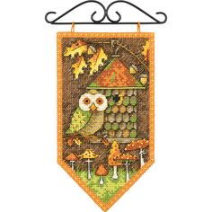 Banner Counted Cross Stitch Kit. These needle kits are wonderfully detailed, with full and half cross stitches, and creates the perfect finished project! Finished size: 8x5 inches.