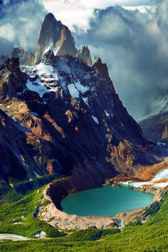 South America 😍 Mount Fitz Roy and Laguna Torre, Los Glaciares National Park, Patagonia, Argentina Places Around The World, Around The Worlds, Beautiful Places In The World, Travel Around The World, Magic Places, Adventure Is Out There, Belle Photo, Vacation Spots, Vacation Travel