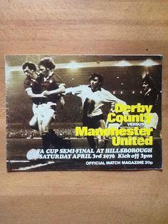 Derby County v Manchester Utd FA Cup Semi-Final at Hillsborough, 03/04/1976