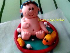 Detalle de una de las figuritas de la tarta dedicada al ginecólogo. Abril 2012.