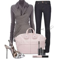 """""""Pink Sophistication"""" by Orysa on Polyvore...top is ok, overall love the look! :)"""