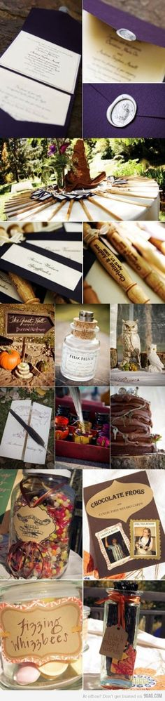 Harry Potter themed wedding...boy do I know a 12 year old boy who will be happy I pinned this someday! :)