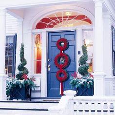 Three-Wreath Holiday Door