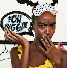 Lepard nails - sophia webster - london fashion week spring 2014