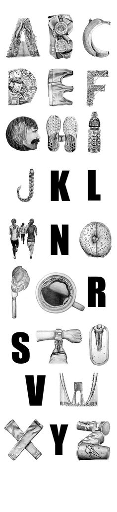 An Alphabet That Is Inspired By The Lifestyle Of Marathon Runners - DesignTAXI.com