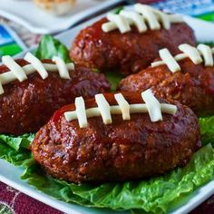 Touchdown Mini Meatloaf - great idea for a football party! - A Family Feast