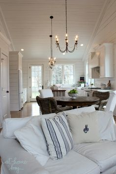 Stunning coastal inspired great room