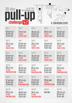 30-Day Pull-Up Challenge lv2