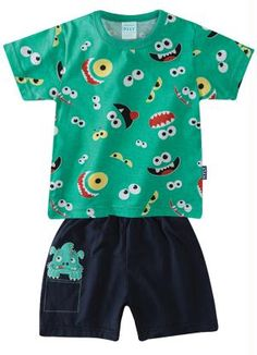 Conjunto Pijama Infantil Menino Kyly Verde tam 1 - Posthaus 39,90