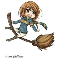 Ashland- Ravenclaw Quidditch Chibi by YuukiMONSTER ❤ liked on Polyvore featuring anime and harry potter