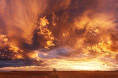 """Fiery sunset sky photo paper poster - sunset landscape - wall art for office or home - """"Hungarian skies XXII."""" by Zsolt Zsigmond - SKU0037"""