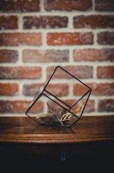 Small Terrarium Cube SPRING OFFER Stained glass vase par Leosklo