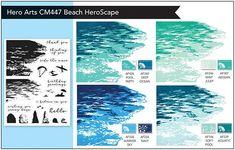 Sky Pool, Hero Arts Cards, Handmade Birthday Cards, Handmade Cards, Beach Cards, Punch Art, Owl Punch, Beach Color, Penny Black