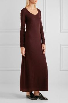 Helmut Lang - Cashmere Maxi Dress - Burgundy - medium
