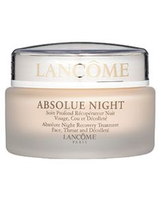 "It really changes skin = Lancôme Absolue Night Recovery Treatment       Winner '05     ""Thick but not greasy, it absorbs quickly with an elegant feel and scent,""  Wild yams, soy and sea algae help plump and hydrate dry skin."