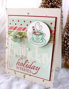 Such a cute card from Michelle Wooderson using PTI stamps and dies.