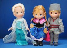 "Frozen Elsa, Anna & Kristoff 12"" Doll Set Precious Moments Disney Parks Signed #PreciousMoments #VinylDolls"