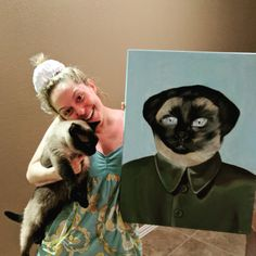 I had a painting commissioned for my husband of his cat Chairman Meow. http://ift.tt/2mjXUxw