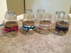 Mason jars decorated
