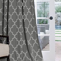 this is the style & pattern i want for my curtains but i'd like a more muted grey