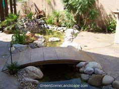 ponds, bridges, and Water Features   ... Landscape Design and Construction: Build Your Own Concrete Bridge