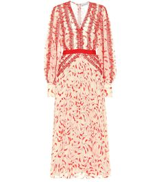 Self-Portrait - Printed chiffon maxi dress Chiffon Maxi Dress, Lace Dress, Tulle Dress, Dress Red, Semi Formal Outfits, Trends, Print Chiffon, Day Dresses, Bride Dresses