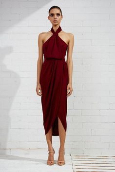 Shop the Shona Joy Core Knot Draped Dress in Burgundy. Browse a huge range of colours & styles. Over 250 dresses to shop. Gala Dresses, Dresses Uk, Blue Dresses, Summer Dresses, Party Dresses, Draped Dress, Chiffon Dress, Lace Dress, Knot Dress