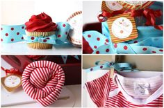 Cute Idea-Lollipop Onesie,a dn I love the turquoise and red theme, Adore-Able!