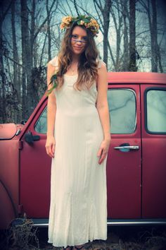 White Rayon Wedding Dress Lace Ruffles India by WonderlandRevival, $60.00