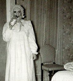 Disturbingly creepy vintage Halloween costume.