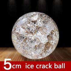 Crystal Ice Crack Ball ornament