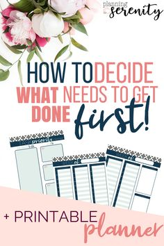 Prioritizing Your Weekly Schedule This Planner set is GREAT!! Def Help in getting the to-dos organized!! #organizedmom #prioritize #weeklyplannerprintable #printables #schedule #planningforserenity