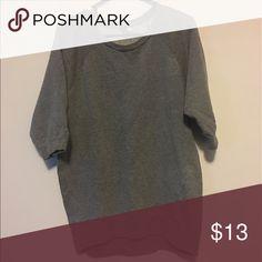 Gray quarter sleeve sweater Gray quarter sleeve sweatshirt. Not heavy. Cute with a pair of leggings. H&M Tops Tunics