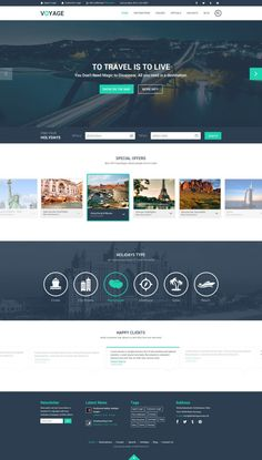 Free Travel Website Template, #Flat, #Free, #Layout, #PSD, #Resource, #Template, #Travel, #Web #Design