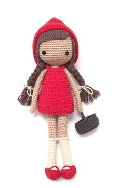 Chapeuzinho Vermelho, Little red riding hood , caperucita roja , amigurumi free pattern