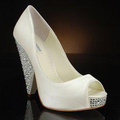 BENJAMIN ADAMS RHIANNA Wedding Shoes and RHIANNA Dyeable Bridal Shoes IVORY
