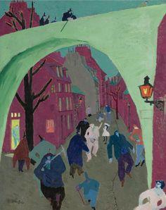 Lyonel Feininger (1871-1956) The Green Bridge, 1909