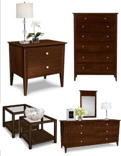 Ethan Allen New Impressions collection featuring Teagan bed, Rowan ...