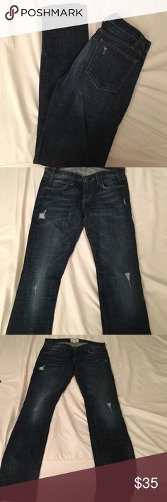 Current Elliot Jeans Size 24 The boyfriend ripped jeans. Worn once, like new. Current/Elliott Jeans Boyfriend