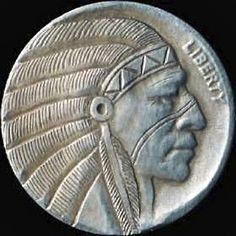 Owen Covert - Indian Chief Adam Jones, Hobo Nickel, Buffalo, Coins, Indian, Rooms, Water Buffalo