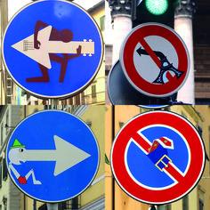 [Image du Lundi] L'artiste français Clet Abraham, résidant à Florence en Italie, s'amuse à y détourner les panneaux de signalisation. De quoi mettre un peu de poésie dans le code de la route ;)  Sa page facebook : https://www.facebook.com/pages/CLET/108974755823172 Instagram : https://instagram.com/cletabraham/