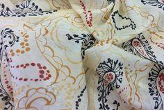 Stoffe gemustert - Digitaldruck, Paisley, gelb-orange - ein Designerstück von Die-Stofftante bei DaWanda