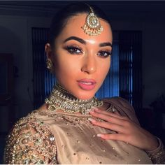 Pakistani Jewelry, Pakistani Outfits, Indian Couture, Punjabi Suits, Indian Girls, Indian Fashion, My Hair, Desi, Makeup Looks