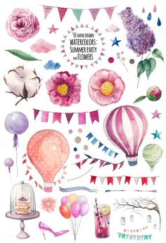 Party flowers by Eisfrei on @creativemarket