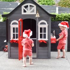 Kmart cubby hack transforms this kids cubby into a workshop for Santa, just in time for Christmas! Kids Cubby Houses, Kids Cubbies, Play Houses, Kmart Home, Little Prince Party, Kmart Decor, Mail Room, Summer Fun For Kids, Sand Crafts