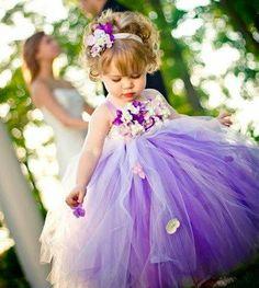 Lavender Wedding dress Easter set Flower girl dress-tutu dress Gold Pink tutu…
