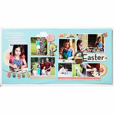 An Easter layout to capture egg decorating and the Easter egg hunt!
